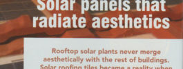 Solar panels that radiate aesthetics